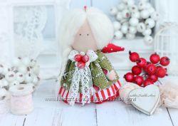 Ангел рождества. Кукла текстильная.