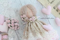 Кукла интерьерная, текстильлная. Тильда