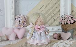 Нежная текстильная кукла-ангел
