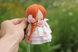 Нежная текстильная кукла, малышка рыжик