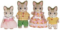 Sylvanian Families 5180 - Семья Полосатых котов Striped Cat Family  Epoch