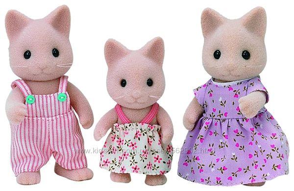 Sylvanian families 5126 Cімя котиків Семья кошек Сat Family Toy Epoch
