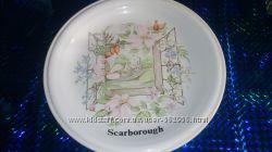 Антикварная тарелочка фирмы Scarborough английский фарфор