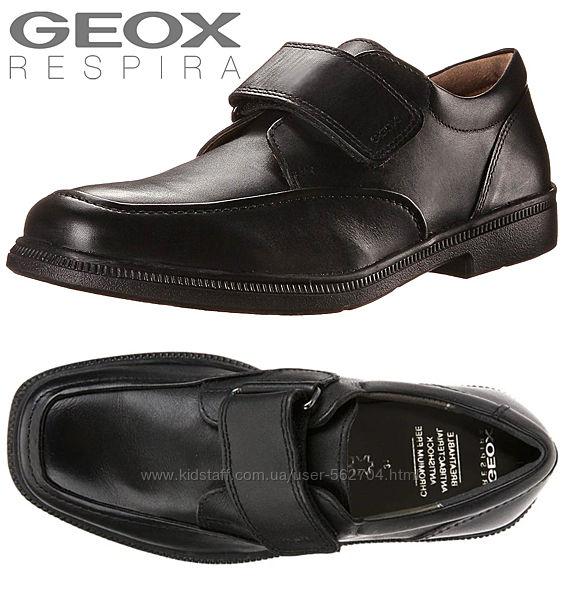 Кожаные туфли GEOX р32 стелька 21см на липучке