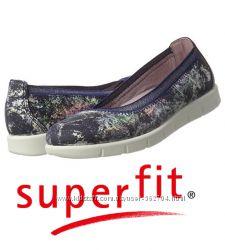 Кожаные балетки туфли Superfit мягусенькие стильные и легкие р38 25см стель