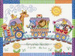 Набор для вышивания крестом Dimensions 73428 Метрика Детский паровозик