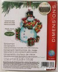 Набор для вышивания крестиком Dimensions 70-08896 Snowman Ornament
