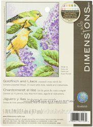 Набор для вышивания крестом Dimensions 70-65153 Goldfinch and Lilacs