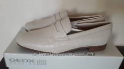 Лоферы кожаные под крокодила GEOX р. 38, 0-38, 5
