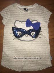 Милейшая футболка с Китти 5-7 лет