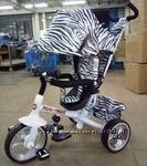 Детский трехколесный велосипед с ручкой TILLY Zoo-Trike