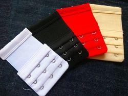 Красный и белый расширители для бюста на 3 крючка