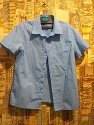 Школьная рубашка с коротким рукавом