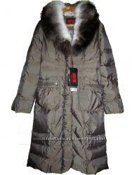 fb79c83b5b3 Snow Spirit Длинный зимний новый пуховик с натуральным мехом хаки 42-44 укр