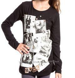 Лонгслив девочке в стиле Rock&acuten&acuteRoll, фирма  С&А, разм 134-140