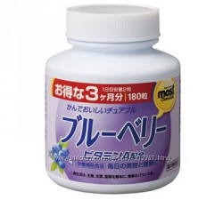 Черника, витамины для зрения, 90 дней, ORIHIRO
