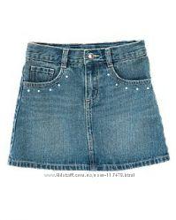 Классическая джинсовая  юбка для девочек  на 7-8 лет