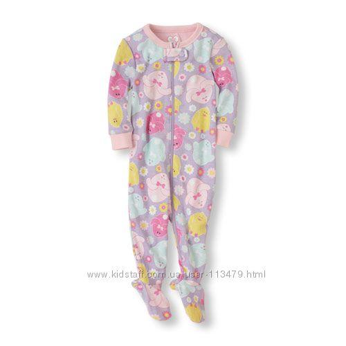 Распродажа пижамы, человечки  The childrens place на 3-6, 9-12, 18-24 ме