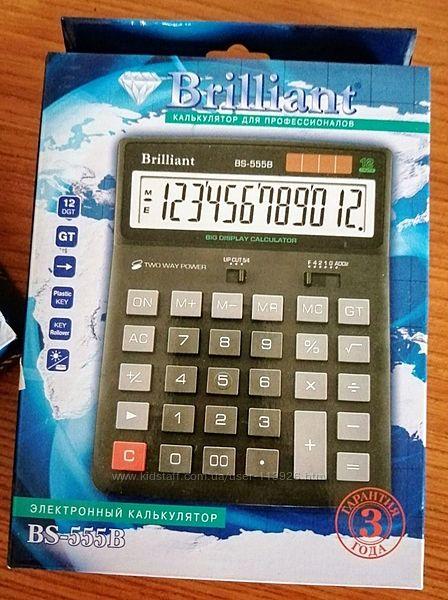 Калькулятор Brilliant BS-555B 12-разрядный 2 шт.