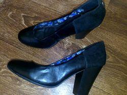 Женские туфли Bongo 41-42р. 27см. стелька, нат. кожазамш