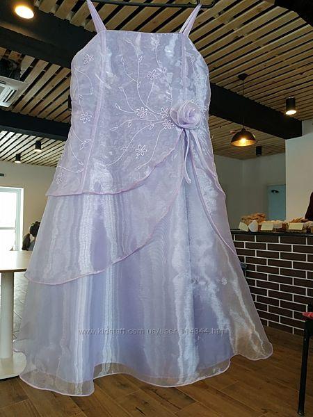 Святкова блідо-бузкова сукня/сиреневое платье Ladybird,116-122