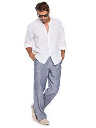 Рубашка льняная, ворот стойка или отложной, размер и увет любой на выбор