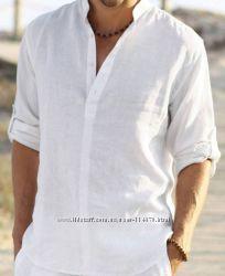Льняная мужская рубашка большого размера и стандартная, цвета разные