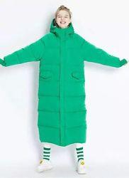 Куртка длинная подростковая зимняя, еврозима, детс футбольное пальто зимнее