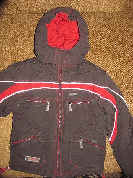 Тёплая куртка-пуховик для мальчика HTRANG Польша со съёмной  жилеткой