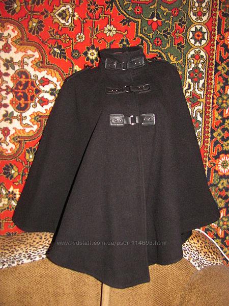 Стильное кашемировое пальто пончо, накидка, демисезонное, деми