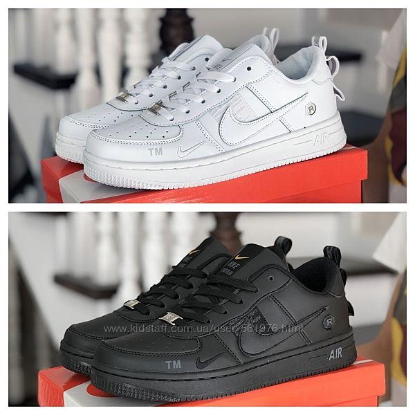 Кроссовки Nike Air Force, кожа р. 36-41 белые и черные