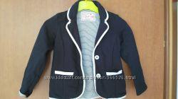 Пиджак на подкладке, синий, рост 110, 4-5 лет