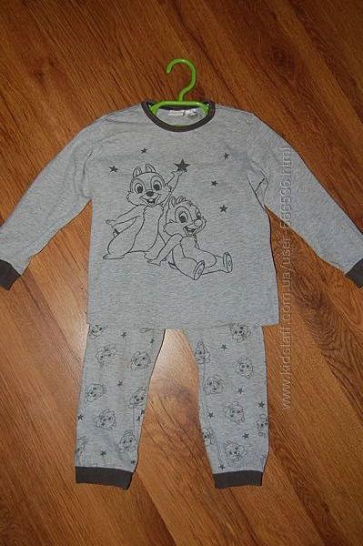 пижама Disney, слип, серая, рост 86