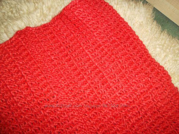 Cubus шарф- снуд. красивый и мягенький. Теракот.