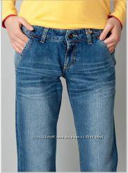 Прямые плотные джинсы с низкой посадкой, размер С