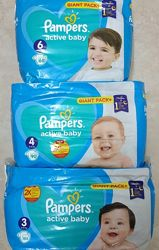 Подгузники  Pampers New Baby Памперc 2 3 4 5 6