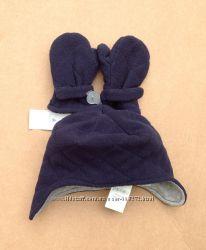 Флисовая шапочка  рукавички 0-6 мес GAP