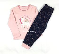 Трикотажная пижама для девочки 86 см Primark