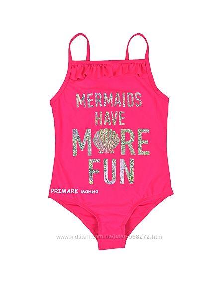 Совместный купальник для девочки 1. 5 -8 лет Primark