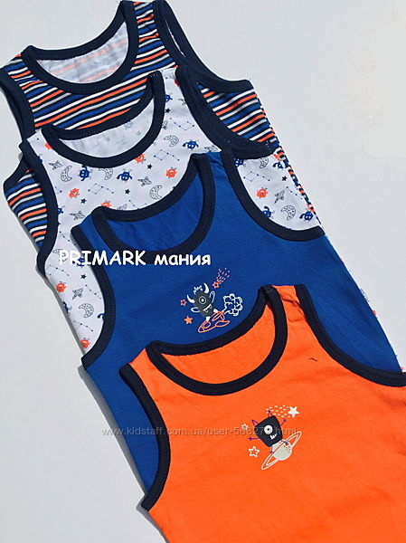 Майки для мальчика Primark
