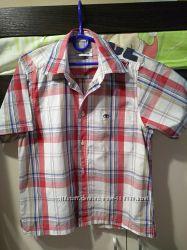 Продам рубашку в летку с коротким рукавом Tom Tailor на мальчика