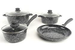 Набор посуды A-PLUS 1503 с мраморным покрытием 7 предметов