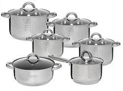 Набор посуды EDENBERG EB-4012 с антипригарным покрытием 12 предметов
