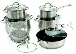 Набор посуды EDENBERG EB-4001 с антипригарным покрытием 12 предметов