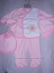 Красивый комплект на девочку 3-6 месяцев