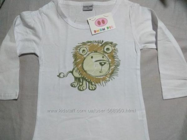 Реглан, футболка с длинным рукавом, 100 см