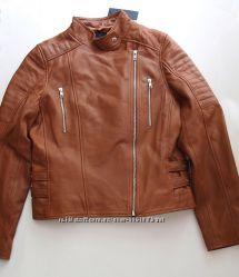 Barneys оригинал кожаная куртка 10 12 14 UK косуха коричневая