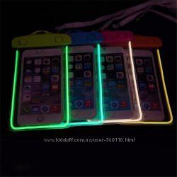 Водонепроницаемые подводные чехлы для телефона светящиеся флуорисцентные