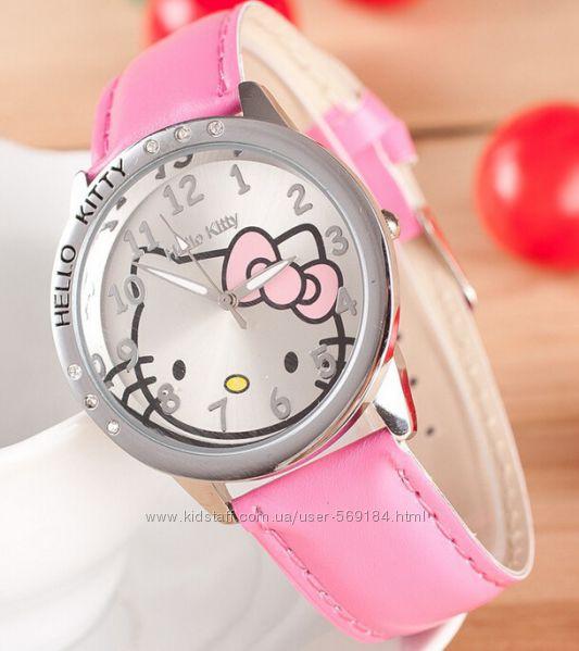 Красивые и качественные часики Hello Kitty. Отличный подарок Бесплат Достав