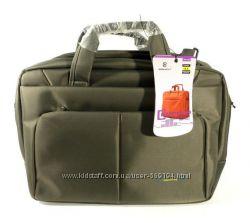 Сумка-портфель для ноутбука компьютера текстильная серая Brinch